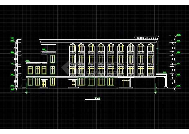 某高级中学特色食堂全套建筑设计施工图-图3