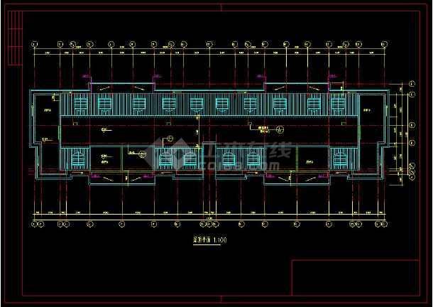 某学校教师公寓楼建筑设计cad施工图-图2