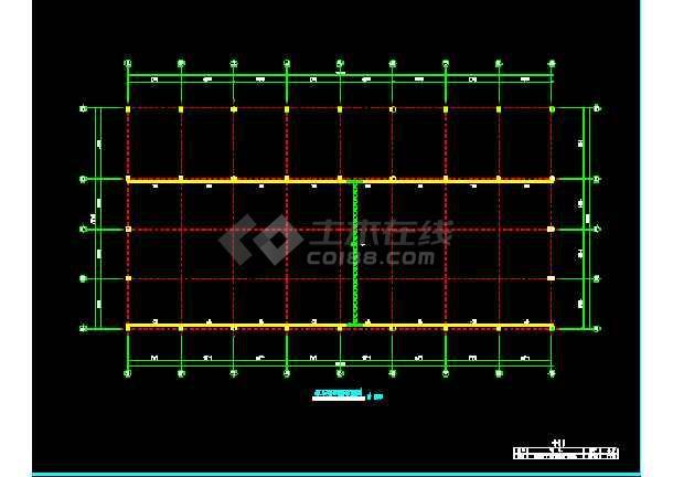 河南三层钢结构工程施工设计CAD-图1