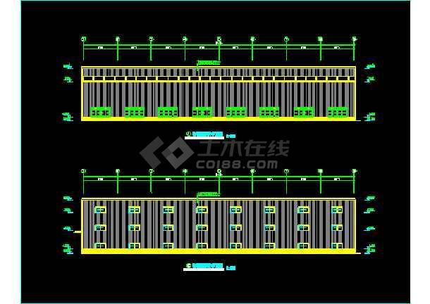 河南三层钢结构工程施工设计CAD-图2