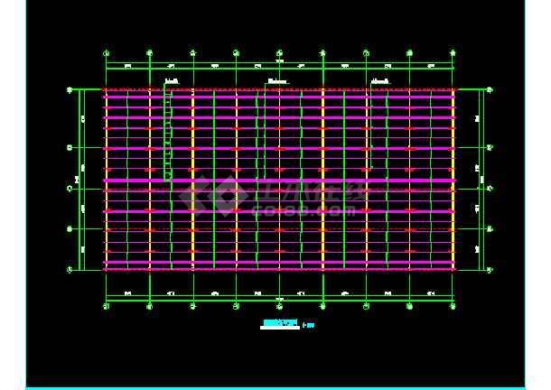 河南三层钢结构工程施工设计CAD-图3