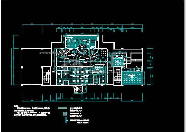 某地西餐厅全套室内装修CAD平面布置施工图纸-图1