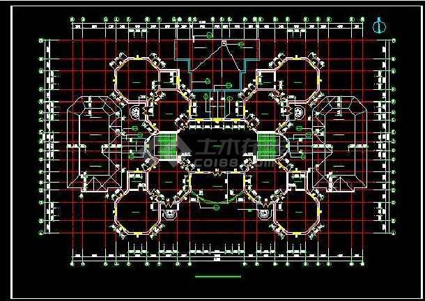 欧式十八班幼儿圆全套建筑设计施工图-图1