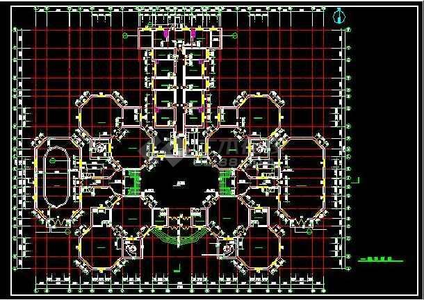 欧式十八班幼儿圆全套建筑设计施工图-图3