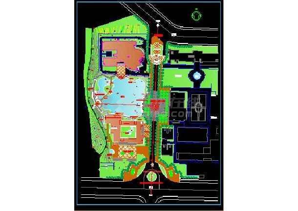 某专科欧式风格学校景观规划设计施工图-图1
