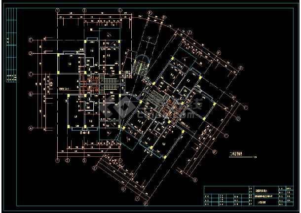 某住宅小区多套复式公寓cad建筑施工设计图-图2
