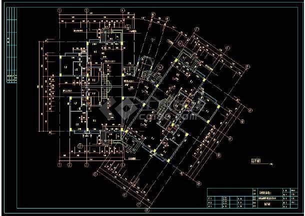 某住宅小区多套复式公寓cad建筑施工设计图-图3