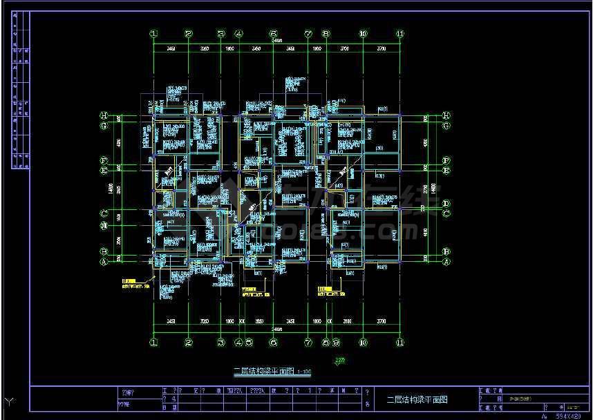 某地住宅楼结构建筑cad施工图(标注详细)-图1