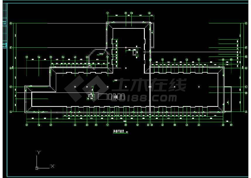 某地小渡假村宾馆建筑CAD图(节点详细)-图2