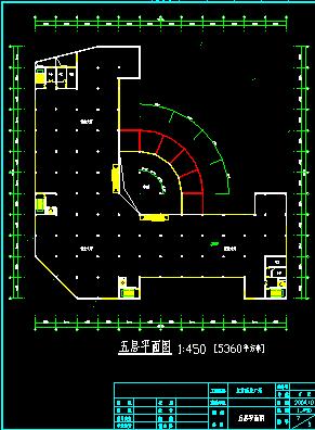 某五层商场设计方案cad平立面图图片3