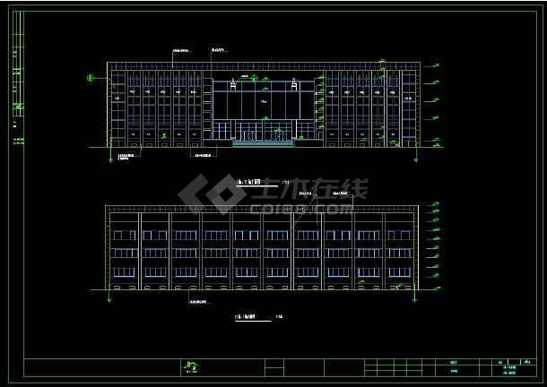 某地区商住综合用房建筑设计cad施工图(含设计说明)-图1