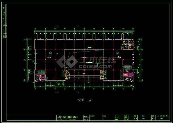 某地区商住综合用房建筑设计cad施工图(含设计说明)-图3