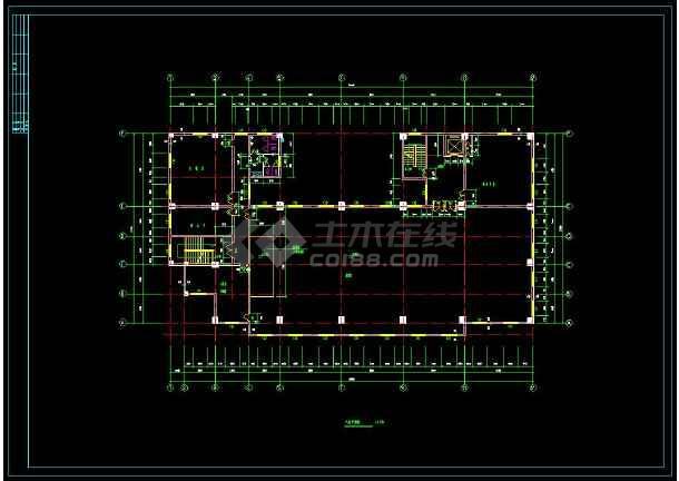 某地商住一体综合楼建筑设计cad施工图(含设计说明)-图1