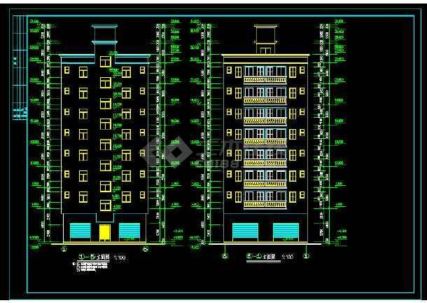 八层出租房建筑设计施工图纸-图1