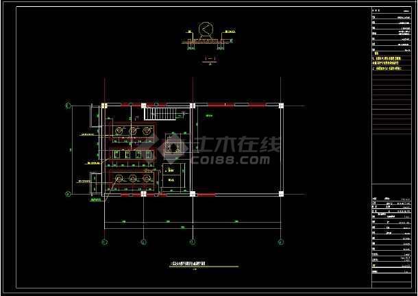 某住宅小区供热锅炉房建筑cad设计施工图纸(含设计说明)-图1