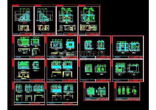 北京美式乡村双层别墅室内装修图含效果图-图一