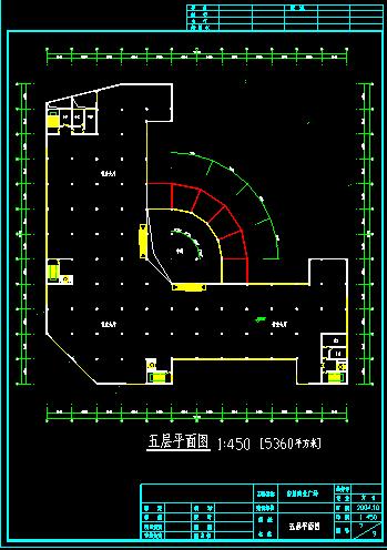 五层商场设计建筑施工CAD平立面方案图片3