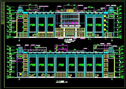 商场设计全套施工CAD建筑平立剖方案图图片2