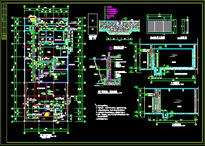商场设计全套施工CAD建筑平立剖方案图图片3