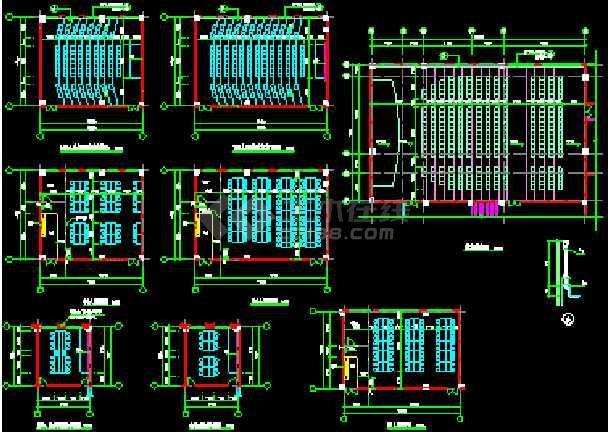 某职业技术学院建筑施工CAD图纸-图2