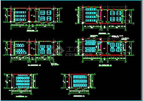 某职业技术学院建筑施工CAD图纸-图3