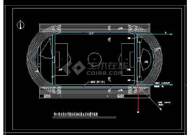 某地区某职业学院体育场设计cad建施图-图2