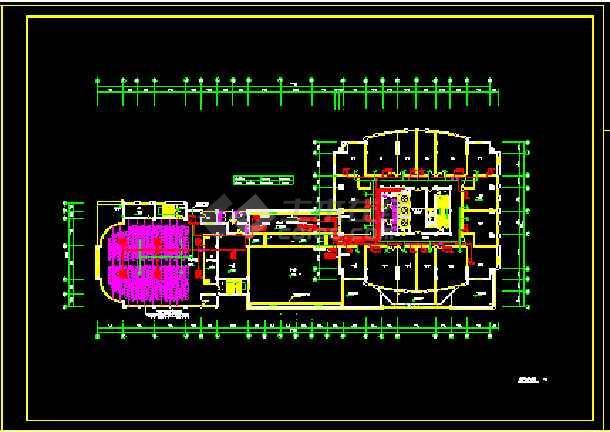 某别墅小区住宅暖通空调设计CAD图-图2