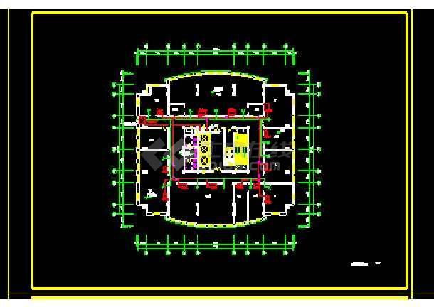 某别墅小区住宅暖通空调设计CAD图-图3