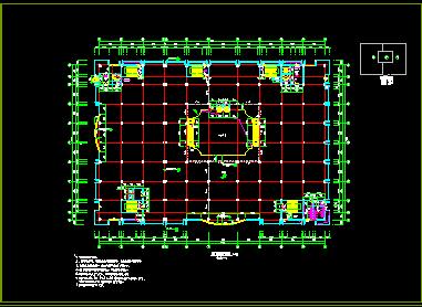 商场设计全套cad平立剖面施工图图片2