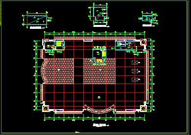 商场设计全套cad平立剖面施工图图片3