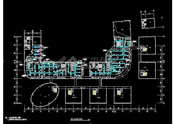 国际五星级宾馆暖通cad平面施工设计图-图3
