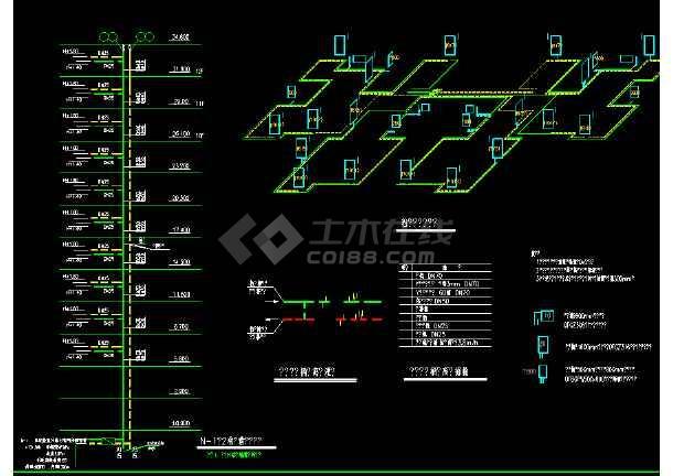 12层一梯四户高层住宅暖通设计图-图2