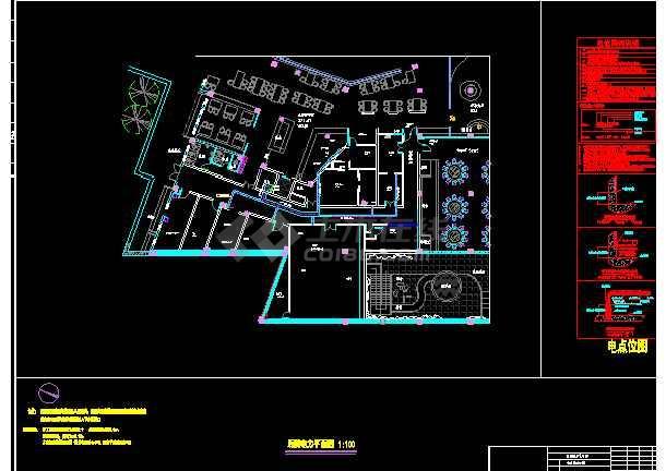 点击查看某酒店厨房电气图第2张大图