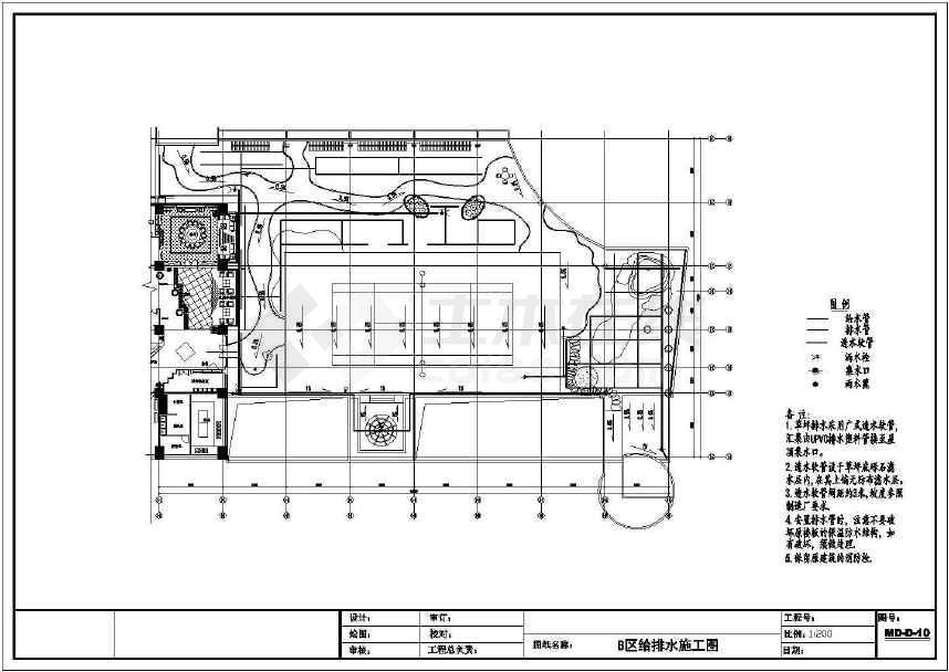 某商业大楼屋顶花园全套园林设计图纸-图1
