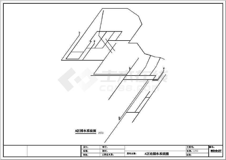 某商业大楼屋顶花园全套园林设计图纸-图2