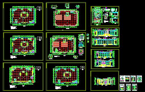 某市中心商场设计建筑施工CAD全套图图片1