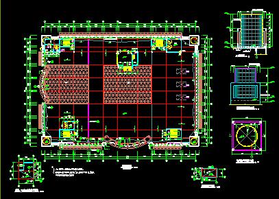 某市中心商场设计建筑施工CAD全套图图片2
