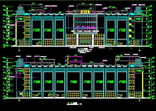某市中心商场设计建筑施工CAD全套图图片3