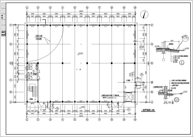 某二层框架(木屋架)厂房全套建筑结构设计图图片3