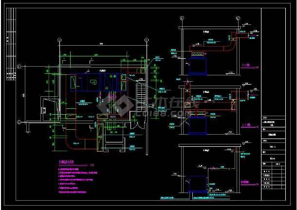 某小区多层别墅建筑暖通空调设计cad施工图(含设计说明)-图1