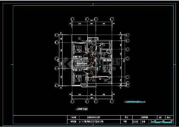 某地精品多层别墅建筑电气设计cad施工图(含设计说明)-图2