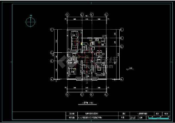 某小区多层精美小别墅建筑电气设计cad施工图(含设计说明)-图1