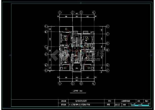 某小区多层精美小别墅建筑电气设计cad施工图(含设计说明)-图2