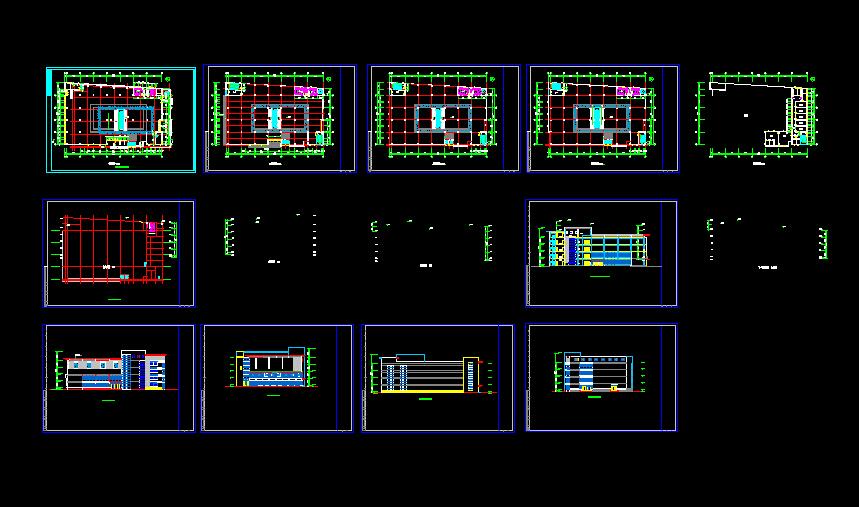 某商场设计建筑cad施工图(共10张)图片1