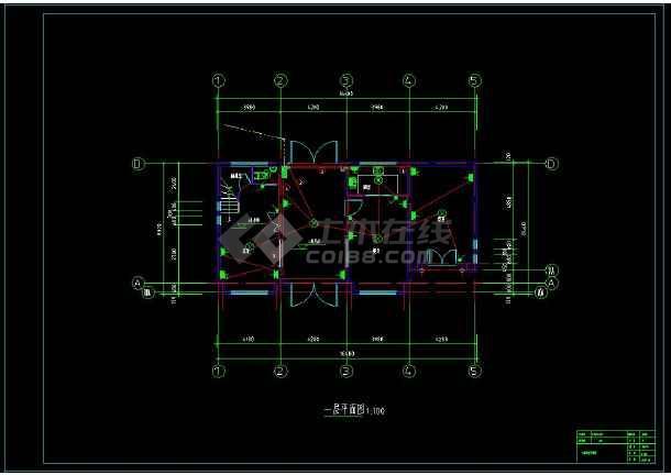 某地两层小别墅建筑电气设计cad施工图(含设计说明)-图1