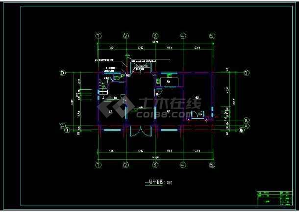 某地两层小别墅建筑电气设计cad施工图(含设计说明)-图3