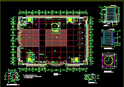 某大型商场设计全套建筑CAD施工平面图纸图片2