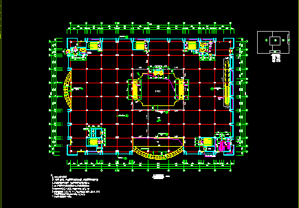 某大型商场设计全套建筑CAD施工平面图纸图片3