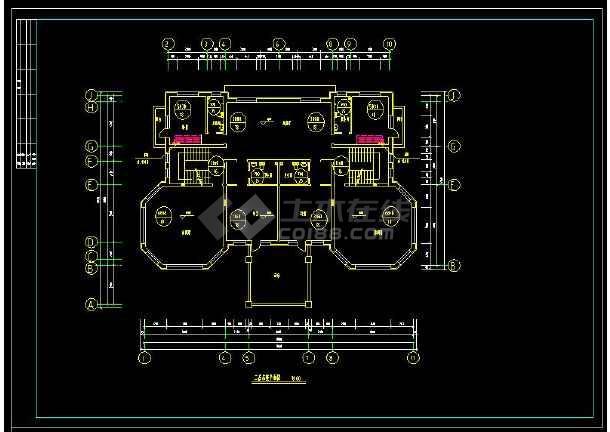 某地多层精品别墅建筑给排水及采暖设计cad施工图(含设计说明)-图3