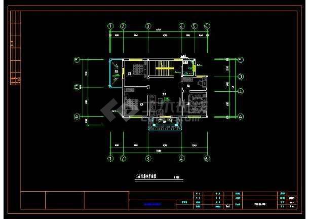 某地多层小别墅建筑给排水及电气设计cad施工图(含设计说明)-图2